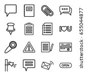 message icons set. set of 16... | Shutterstock .eps vector #655044877