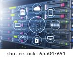 cloud technology connected all... | Shutterstock . vector #655047691