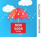 happy monsoon season design ...   Shutterstock .eps vector #655047751
