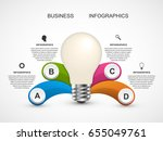 infographic template for... | Shutterstock .eps vector #655049761