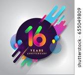 16th years anniversary logo...