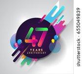 47th years anniversary logo... | Shutterstock .eps vector #655049839