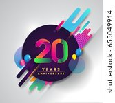 20th years anniversary logo... | Shutterstock .eps vector #655049914
