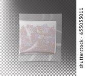 realistic tea bag teabag.... | Shutterstock . vector #655055011