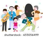 the concert of the family. | Shutterstock .eps vector #655056499
