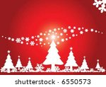 christmas tree with shiny star | Shutterstock .eps vector #6550573
