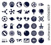 sphere icons set. set of 36... | Shutterstock .eps vector #655060819