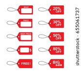 red price vector labels. price...   Shutterstock .eps vector #655061737