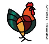 stylized vector rooster   totem ...   Shutterstock .eps vector #655063699
