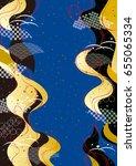 japanese kimono | Shutterstock .eps vector #655065334