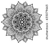 mandalas for coloring book.... | Shutterstock .eps vector #655079665