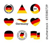 germany flag  heart with german ... | Shutterstock .eps vector #655080739