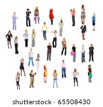 crowd isolated people | Shutterstock . vector #65508430