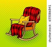 rocking chair pop art style... | Shutterstock .eps vector #655086841