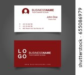 red and white business card...   Shutterstock .eps vector #655086979