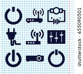set of 9 switch filled icons... | Shutterstock .eps vector #655090501