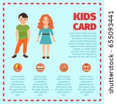 blue kids card infographic with ... | Shutterstock .eps vector #655093441