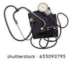 blood pressure gauge isolated...   Shutterstock . vector #655093795
