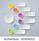 infographics design vector and... | Shutterstock .eps vector #655096321