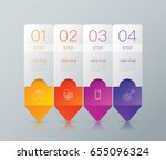infographics design vector and... | Shutterstock .eps vector #655096324