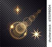 distant burning bright star... | Shutterstock .eps vector #655098004