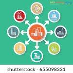 industry info graphic design... | Shutterstock .eps vector #655098331