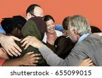 diverse group of people... | Shutterstock . vector #655099015