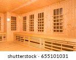 wooden interior of infrared... | Shutterstock . vector #655101031