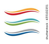 abstract swoosh logo | Shutterstock .eps vector #655102351