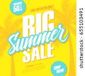 big summer sale. this weekend... | Shutterstock .eps vector #655103491