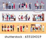 corporate parties vector... | Shutterstock .eps vector #655104319