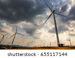 wind turbines at khao kho... | Shutterstock . vector #655117144