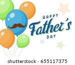father's day vector background | Shutterstock .eps vector #655117375