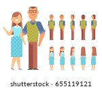vector couple for animation.... | Shutterstock .eps vector #655119121