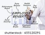 businessman hand drawing... | Shutterstock . vector #655120291