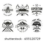 vintage mountaineering badges... | Shutterstock . vector #655120729