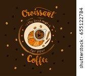handdrawn coffee lettering... | Shutterstock .eps vector #655122784