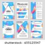 abstract vector layout... | Shutterstock .eps vector #655125547