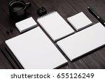 modern minimalistic workspace... | Shutterstock . vector #655126249