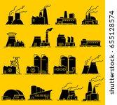 building industrial factory... | Shutterstock .eps vector #655128574