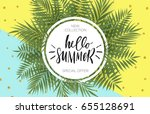 summer sale banner design with... | Shutterstock .eps vector #655128691