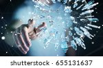 businessman on blurred...   Shutterstock . vector #655131637