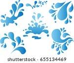 water splash in vector   Shutterstock .eps vector #655134469