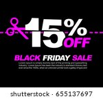 15  off black friday sale ... | Shutterstock .eps vector #655137697
