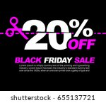 20  off black friday sale ... | Shutterstock .eps vector #655137721