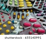 close up medicine pill in pack... | Shutterstock . vector #655140991