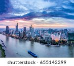 ho chi minh city  aerial view   ... | Shutterstock . vector #655142299
