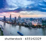 ho chi minh city  aerial view   ... | Shutterstock . vector #655142329