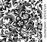vector seamless black and white ... | Shutterstock .eps vector #655147114