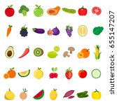 vegetables and fruits icon.  | Shutterstock .eps vector #655147207